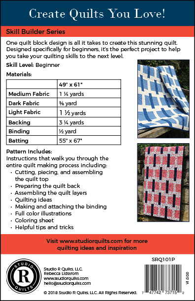SRQ Sticks & Stones Quilt Pattern Cover Back