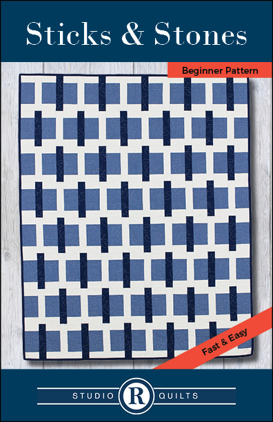 SRQ Sticks & Stones Quilt Pattern Cover Front