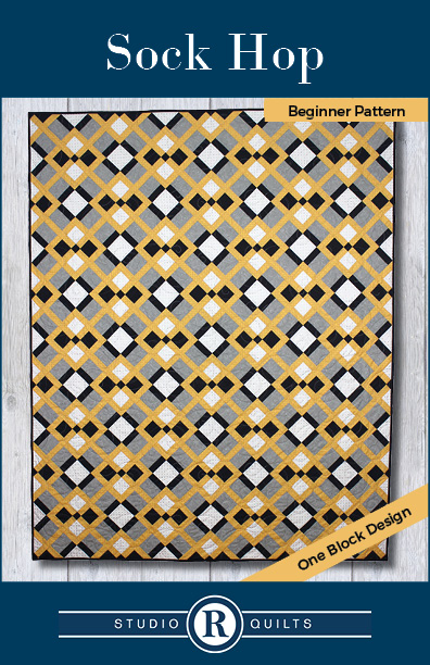 SRQ Sock Hop Quilt Pattern Cover Front