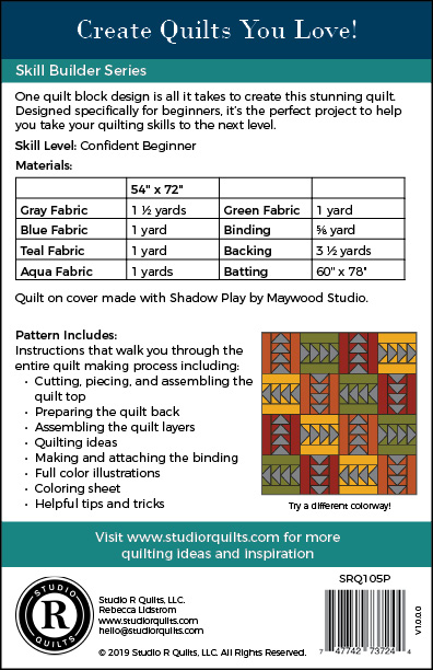 SRQ Any Which Way Quilt Pattern Cover Back