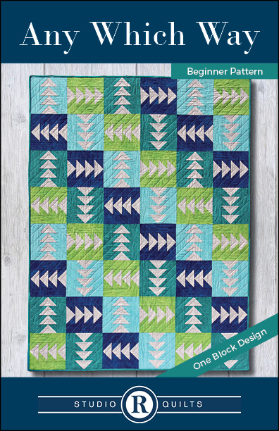 SRQ Any Which Way Quilt Pattern Cover Front