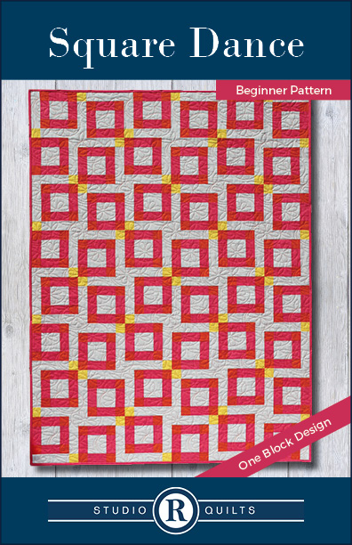 SRQ Square Dance Quilt Pattern Cover Front