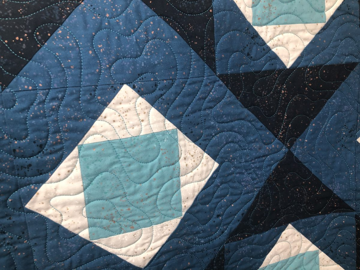 Winter Frost Quilt, Quilting Detailed