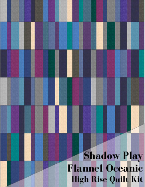 High Rise Quilt Kit: Shadow Play Flannel Oceanic