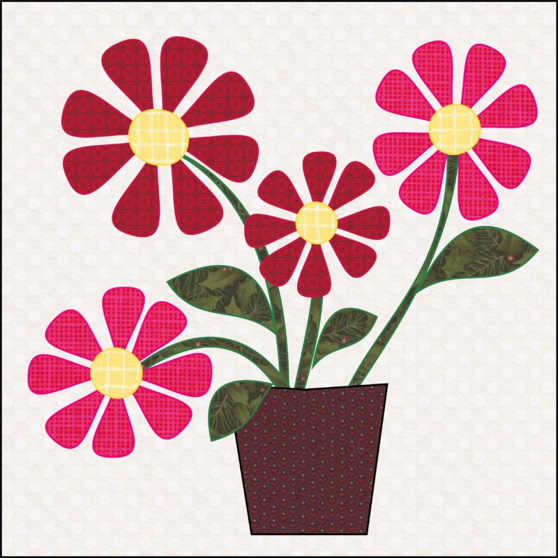 Wildflowers Quilt Block