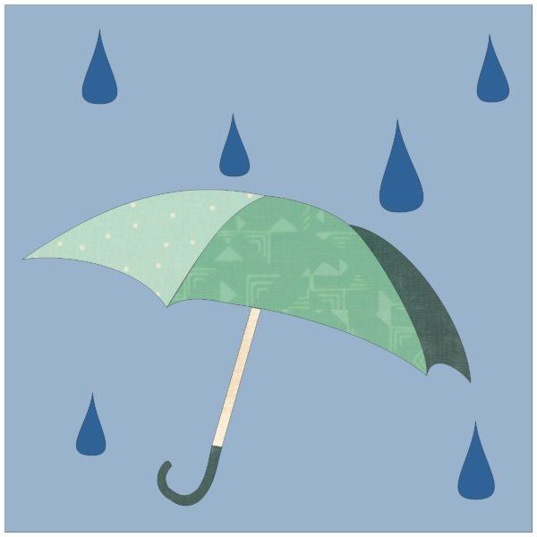 Rainy Day Quilt Block