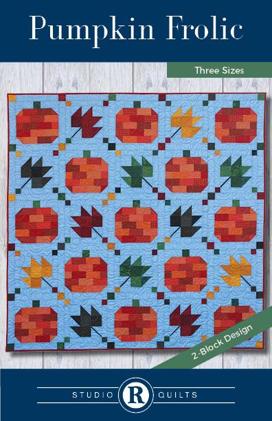 SRQ Pumpkin Frolic Quilt Pattern Cover Front