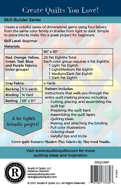 SRQ Prismatic Quilt Pattern Cover Back
