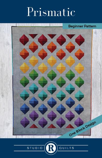 SRQ Prismatic Quilt Pattern Cover Front